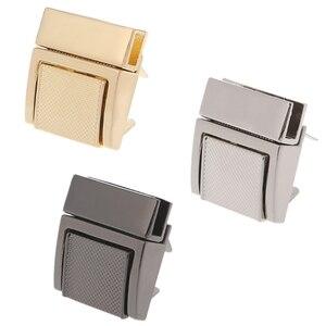 THINKTHENDO 1 قطعة الأزياء الأجهزة محفظة تويست قفل المعادن ل حقيبة يد بدوره أقفال DIY المشبك 2.6x3 سنتيمتر