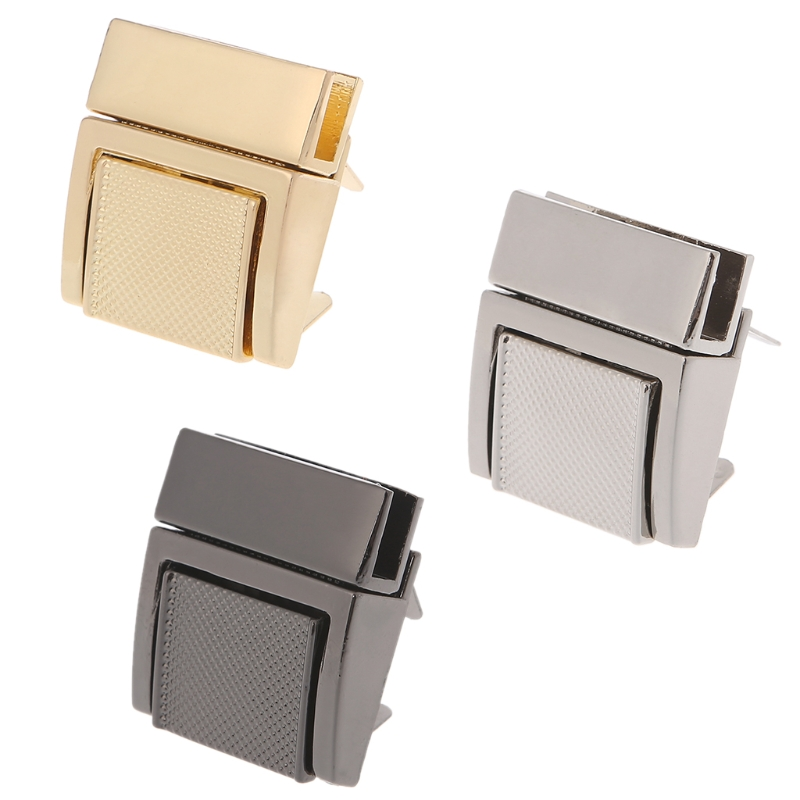 THINKTHENDO 1PC Fashion Hardware Purse Twist Lock Metal For Bag Handbag Turn Locks DIY Clasp 2.6x3cm