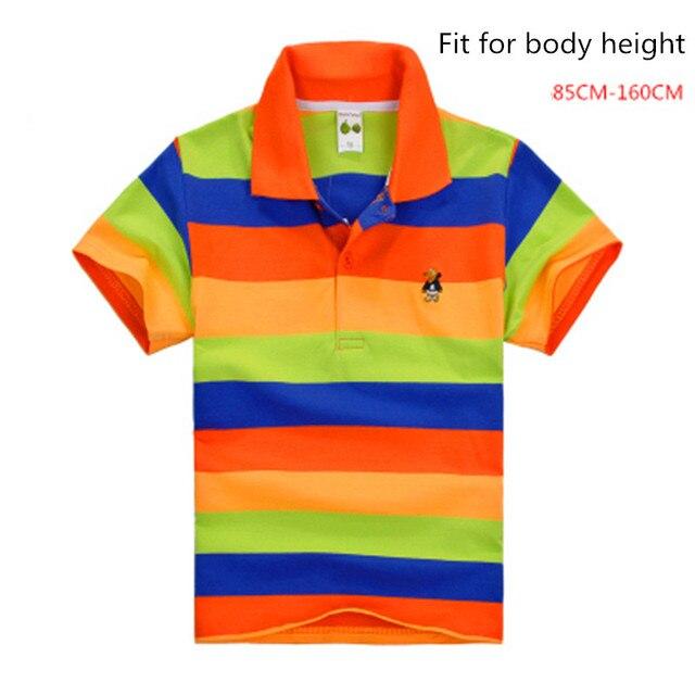 3db9f0757 Camisa polo infantil menino grande roupas esporte manga curta de algodão  para meninos meninas crianças marca