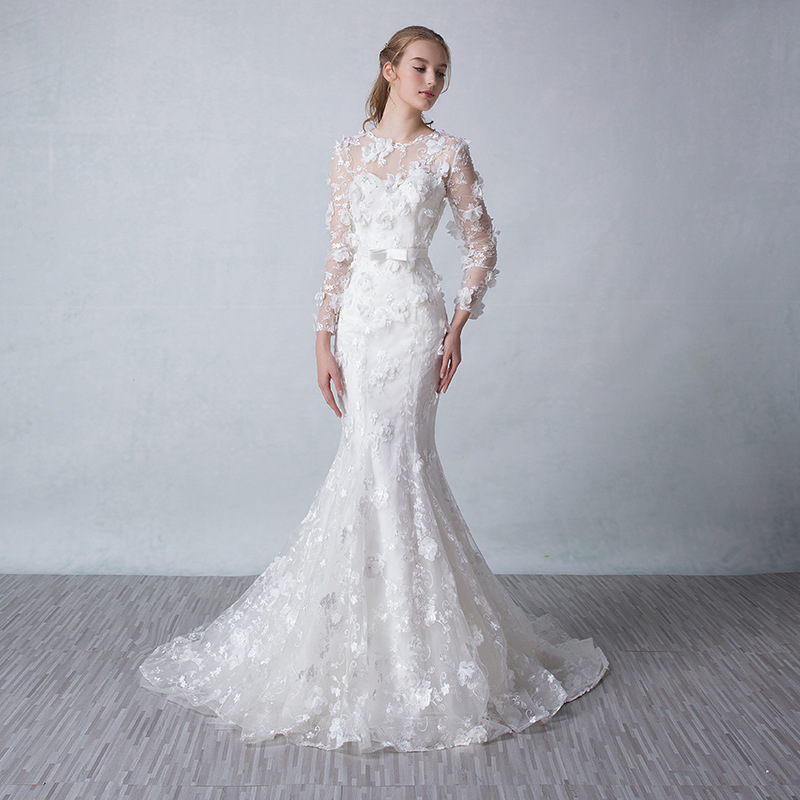 Online get cheap fitted wedding dresses for Fitted mermaid wedding dresses