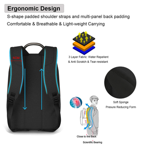 """Image 3 - 180° Patent Luggage Design Men Backpack Business Laptop Backpack Women Travel Bag 18"""" Expandable RFID Anti theft H6758"""