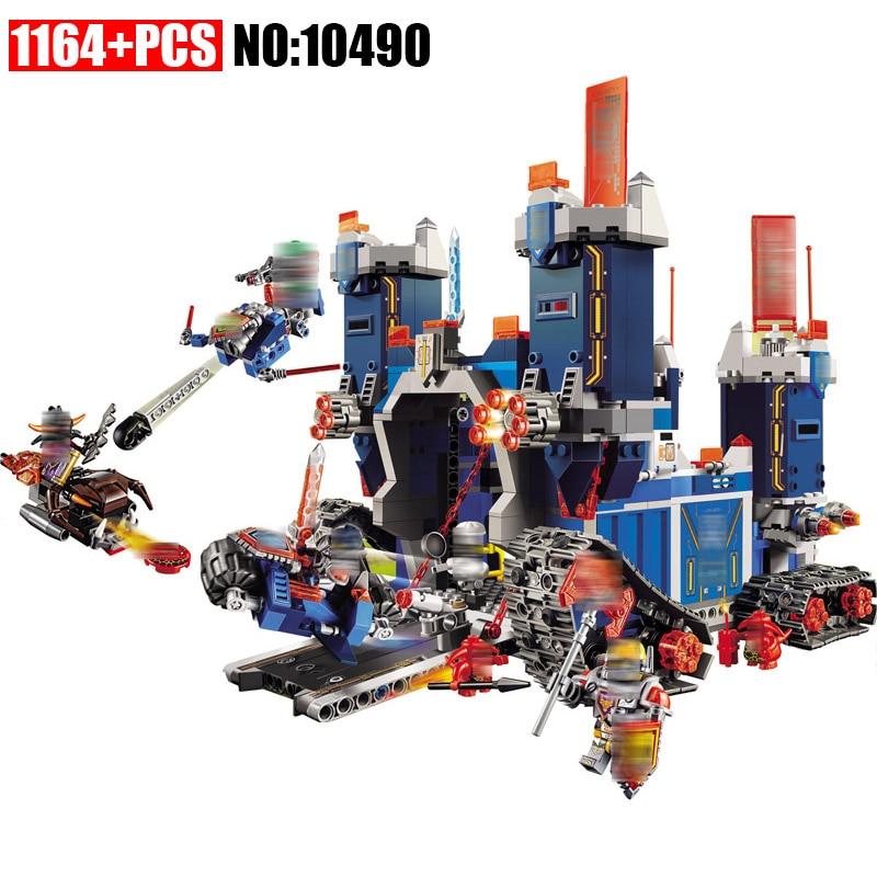 1164Pcs 10490 Nexus Knights The Fortrex Castle Model Building Blocks Toys for Children Compatible 70317 DIY Educational kids