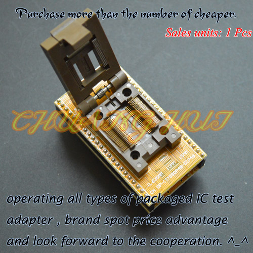 CH-DP(T)SSOP48-DIP48 Programmer Adapter TSSOP48 to DIP48 Adapter test socket Pitch:0.635mm Width=10mm/15mm
