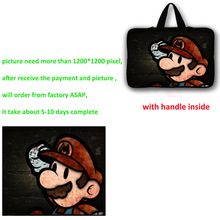 где купить Custom laptop sleeve messenger shoulder strap bag hard bag, stickers, mouse pad Custom fee по лучшей цене