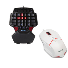 Stock Delux T9+M601 USB Optical 1600DPI gaming keyboard and mouse combo gamepad for PC gamer