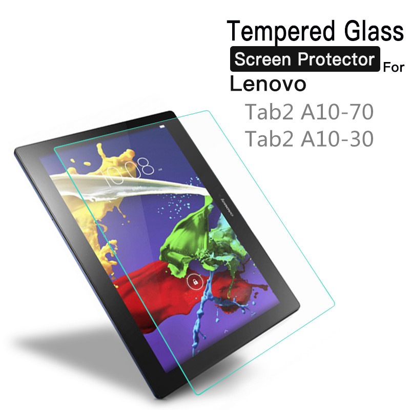 Tempered Glass For Lenovo Tab 2 A10-70 A10-70F A10-70L A10-30 A10-30F X30F A7600 10.1 Tablet Screen Protector Protective Film for lenovo tab 2 a10 70 f case leather smart cover for lenovo tab 2 a10 30 a10 70f a10 70 a10 70l 10 1 foldable case stylus pen