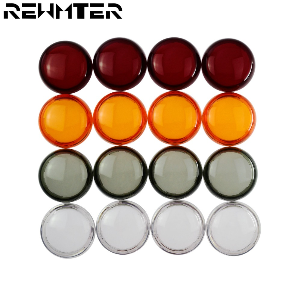 Motorcycle Turn Indicator Signal Light Lens Cover For Harley Sportster 883 1200 Touring Road King Dyna Softail Heritage Fatboy