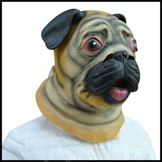 party cosplay 100 eco friendly latex magic costume realistic latex adult pug dog mask animal mask halloween masks evening party