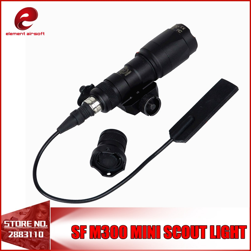 Element SF M300 MINI SCOUT LIGHT Airsoft Mini Rifle Flashlights Softair for 20mm Rails Black Tan WATERPROOF AND SHCOKPROOF