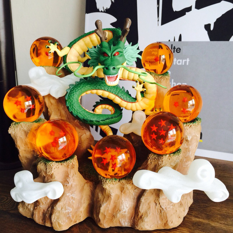 Dragon Ball Z Action Figures Dragon Shenron Anime Dragon Ball Z Collectible PVC Model Toys DBZ With Mountain Shelf Toy