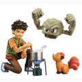 NEW hot 10cm Pikachu Brock Geodude Action figure toys doll collection Christmas gift with box
