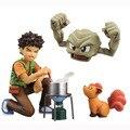NUEVA caliente 10 cm Pikachu Brock Geodude figura de Acción juguetes de colección de muñecas de regalo de Navidad con la caja