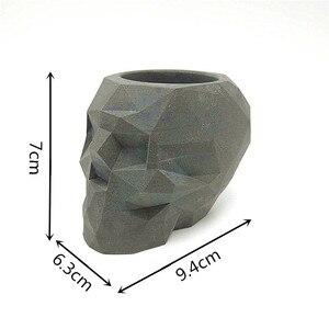 Image 5 - Molde de geométrico de silicone 3d, forma de caveira para decoração caseira, faça você mesmo