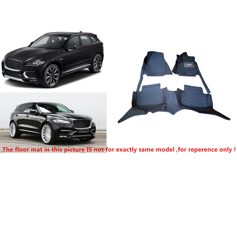 Fit For Jaguar F-Pace f pace X761 2016 2017 Accessories Interior Leather Carpets Cover Car Foot Mat Floor Pad 1set for jaguar f pace f pace x761 car styling abs chrome front fog lamp frame cover trim accessories set of 4pcs