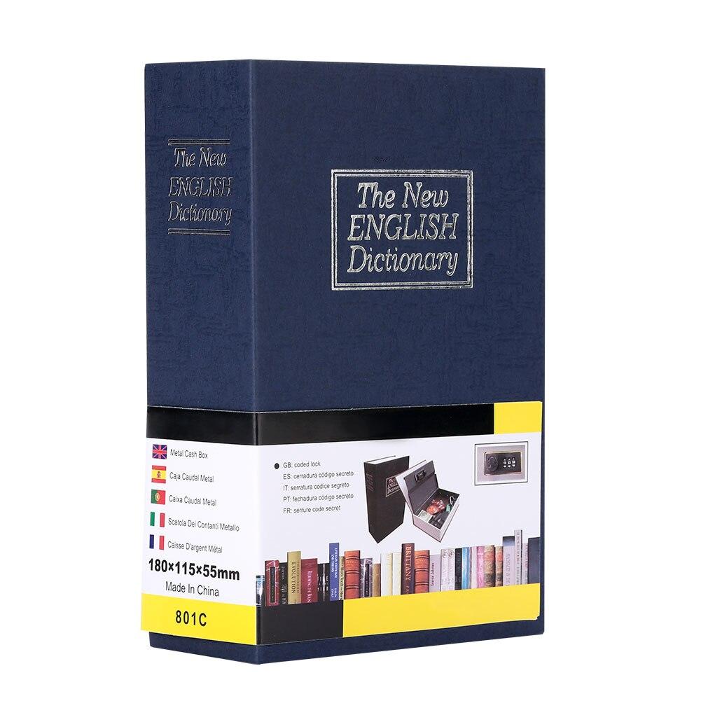 4 цвета, сейф для словаря, ящик для хранения, сейф для книг, безопасный тайник бумага для органайзера, креативный - Цвет: blue
