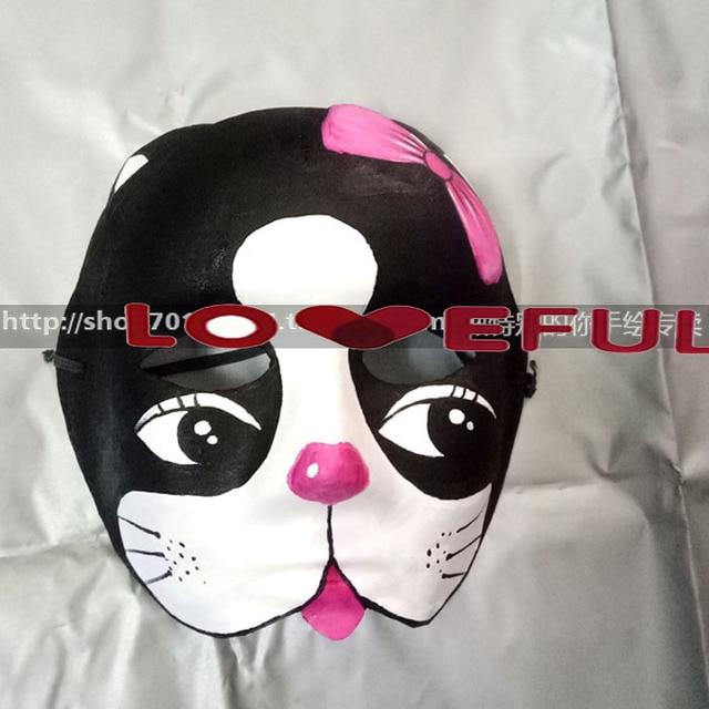 New Quality Handmade DIY Mask Halloween Black Puppy Dog Mask Cosplay Costume Paper Mache Pulp Mask & New Quality Handmade DIY Mask Halloween Black Puppy Dog Mask Cosplay ...