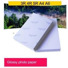 Фотобумага 3R 4R, 5R, A4, A6 100 листов высокоглянцевая печатная бумага для струйных принтеров офисные принадлежности