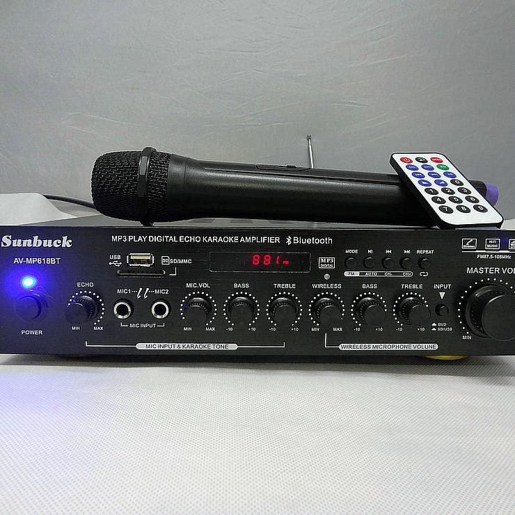 NEW AV-MP618BT 200W+200W Bluetooth HiFi 2.0 channel MP3 play digital amplifier Home karaoke amplifier home theater audio 2017 new 220v 0f amplifier home 5 1 high power home theater av digital bluetooth hifi sound lpa 50