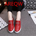In the spring of 2016 new Korean women shoe The thickness of the bottom letter elastic casual fashion student shoes b2