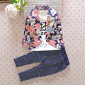 Rushed New Spring Models Boys Birthday Party Suit Korean Version Of Small Children's Floral Fake Two-piece Kids Clothing Set