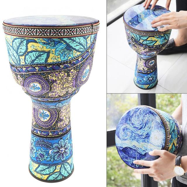 Colorful African Djembe Drum