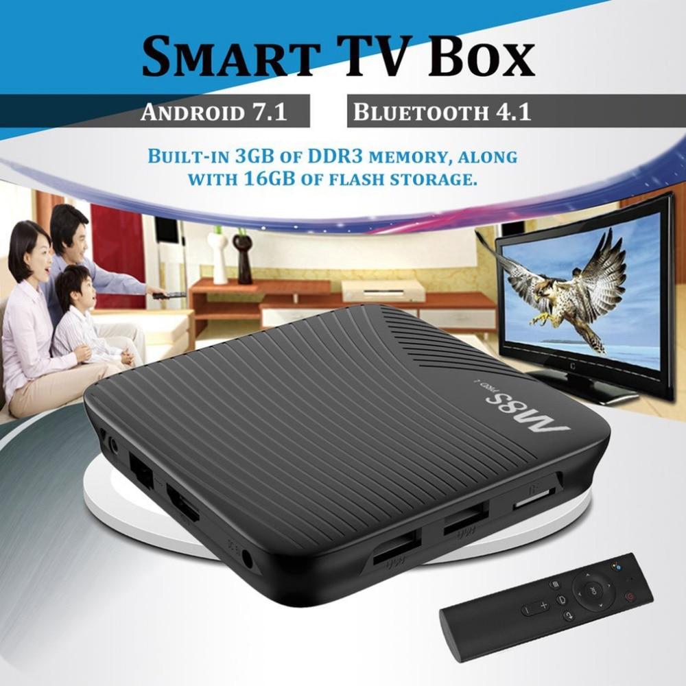 M8S PRO L Android 7.1 Smart TV Box S912 Octa-core 3GB RAM 32GB 4K Media Player 2.4G/5GHz Dual WIFI TV Box with Voice Control 10pcs m8s pro l amlogic s912 3gb 16gb 32gb android 7 1 tv box youtube 4k octa core k d 17 3 smart media player better x96 mini