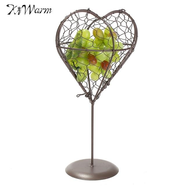 KiWarm Französisch Provincial Metall Kleine Blume Topfpflanzenhalter Mit Eisen Ausgesetzt Korb Figuren Miniatur Hängenden Garten Decor