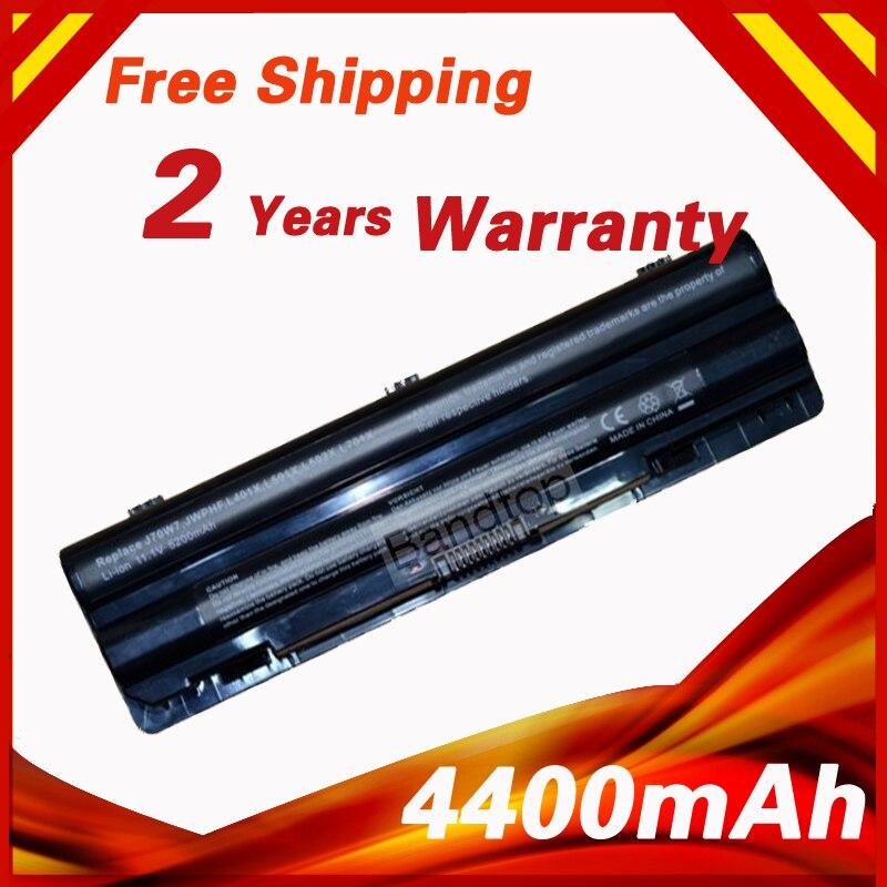 4400mAh 6 cells Laptop Battery for Dell XPS 14 14 (L401X) 15 17 L501X L502X L701X L702X L401X L501X L502X J70W7 JWPHF 312-1123