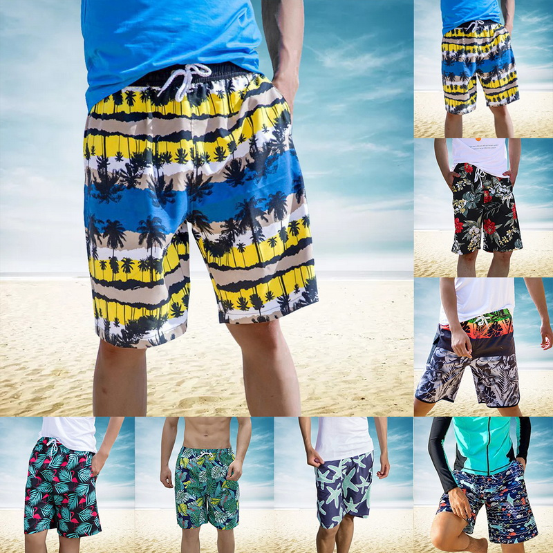 New Mens Swimwear Swim Beach   Shorts   Trunks   Board     Shorts   Swimming   Short   Pants Male Swimsuits Mens Running Sports Surffing   Shorts