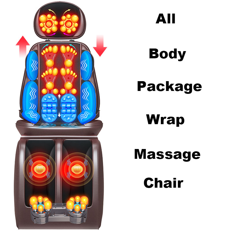 Cervical Neck Waist Back Shoulder Multifunction Body Shake Massage Cushion Home Body Wrap Copper Core Electromechanical Thick PU