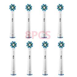 8PCS Electric toothbrush heads Compatible for Braun Oral b Replacement Brush Heads for Oral-B Tooth Brush Vitality Dual Clean