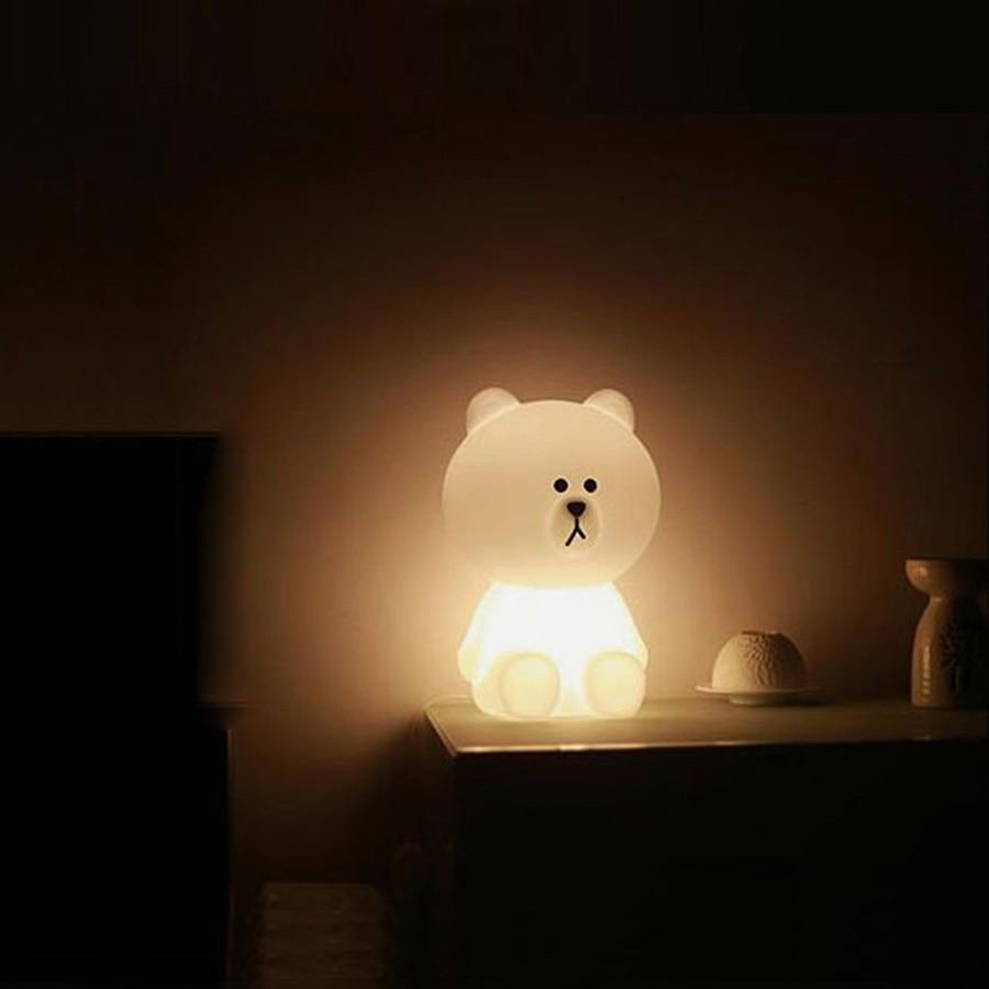 50cm Brown Bear LED Night Light Rechargeable Children Bedroom Night Lamp  For Baby Kids Christmas Gift EU/US Plug In LED Night Lights From Lights U0026  Lighting ...