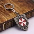 HSIC Red Resident Evil Umbrella Keychain Model Designer keyring For Fans Souvenir Key Holder Llaveros Wholesale 11237