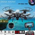 Alta Quqlity SKD20W WiFi 2MP Cámara FPV 2.4 GHz 4 Canales 6 Axis Gyro Quadcopter 3D Anti-rollove Regalo Para Niños Gratis gratis