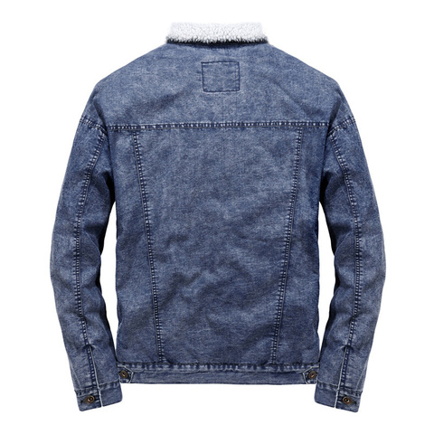 2018 Wool Liner Denim Jacket Men Winter Warm High Quality Mens Jackets Size S-2XL Outwear Cowboy Jeans Jacket jaqueta masculina Islamabad