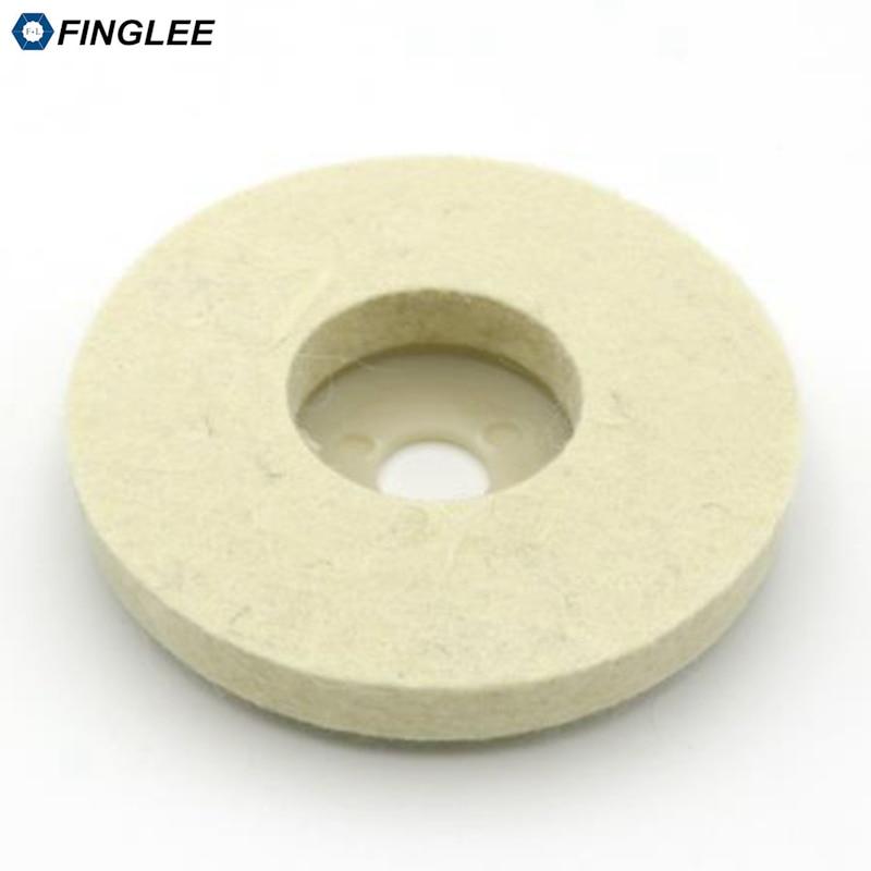 FINGLEE 10 pz 4 pollici lana feltro lucidatura ruota smerigliatrice - Utensili elettrici - Fotografia 4