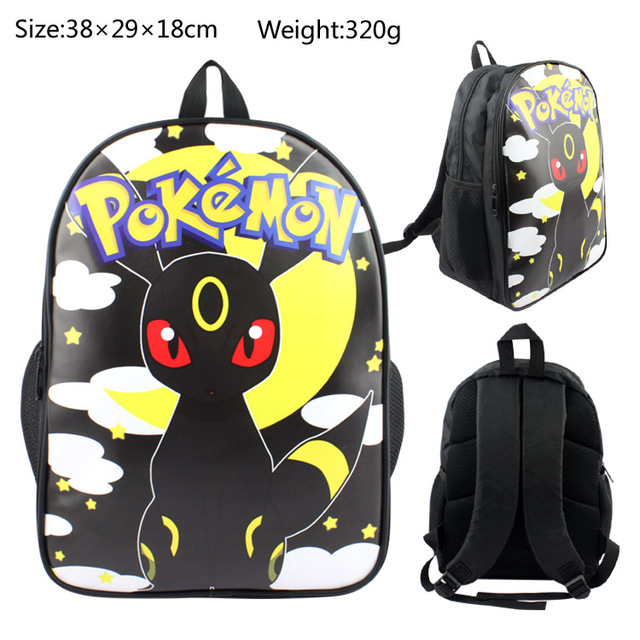 e79cdbc2b4 15 Inch Anime Pokemon Umbreon Backpack For Boy Girls Pocket Monster School  Bag Student Bookbag Shoulder