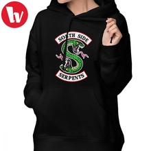 Serpent Riverdale Hoodie Southside Serpents Riverdale4 Hoodies Sweet Over Sized Hoodies Women Street wear Blue Pullover Hoodie(China)