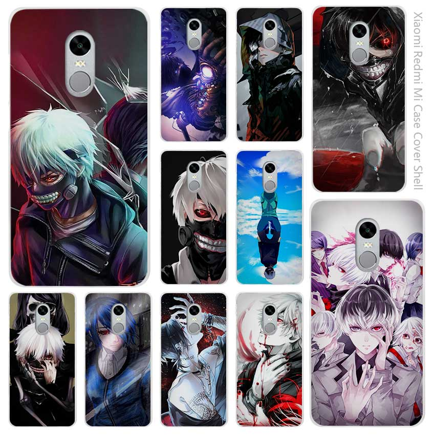 Anime Tokyo Ghouls Clear Cover Case Coque for Xiaomi Redmi Mi Note 3 3s 4 4A 4X 5 5S 5C 6 Pro