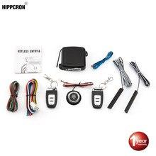 Hippcron voiture alarme télécommande voiture sans clé entrée moteur démarrage système d'alarme bouton poussoir démarreur à distance arrêt Auto