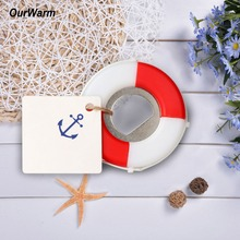 OurWarm Nautical Baby Souvenirs Wedding Favors and Gifts 50pcs Lifesaver Bottle Opener +Tags+Rope Party Favors for Kids Birthday