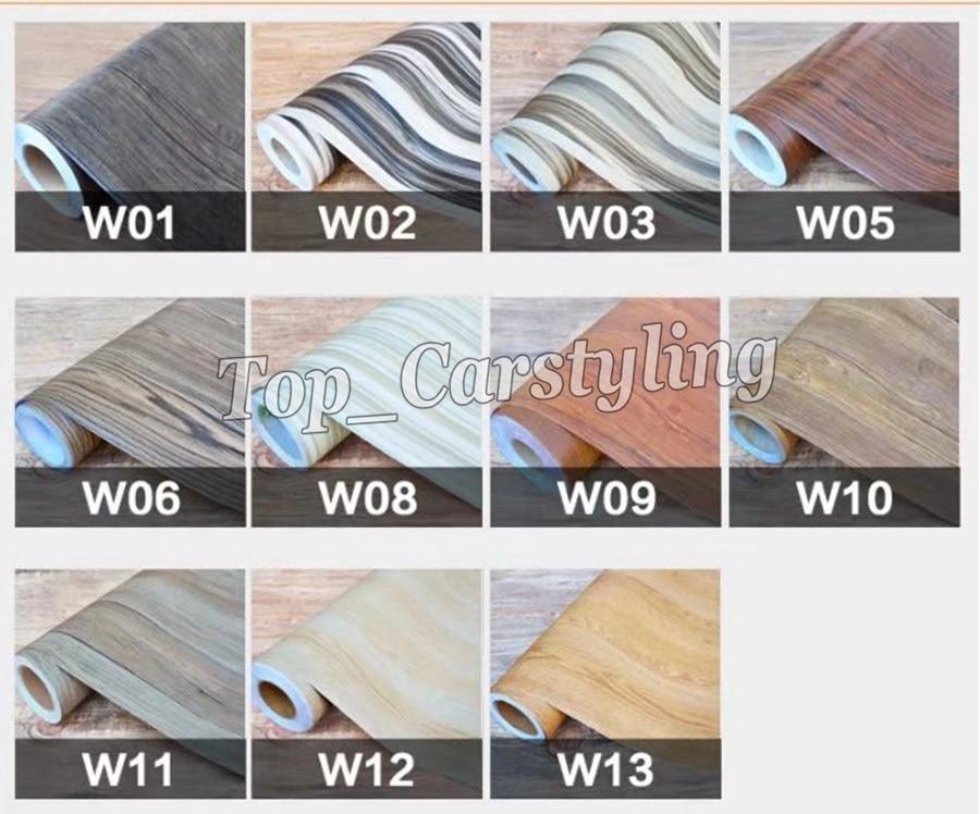 Grain De bois texturé papier peint En Vinyle autocollants auto-adhésif Couvrant feuille Utiliser pour mur porte décoration PROTWRAPS 1.22x50 m rouleau