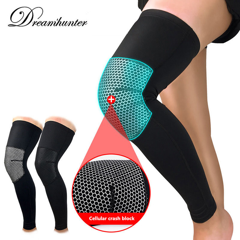 1 Pair Basketball Knee Protector Volleyball Knee Pads Lengthen Anti-collision Knee Brace Support Protection Knee