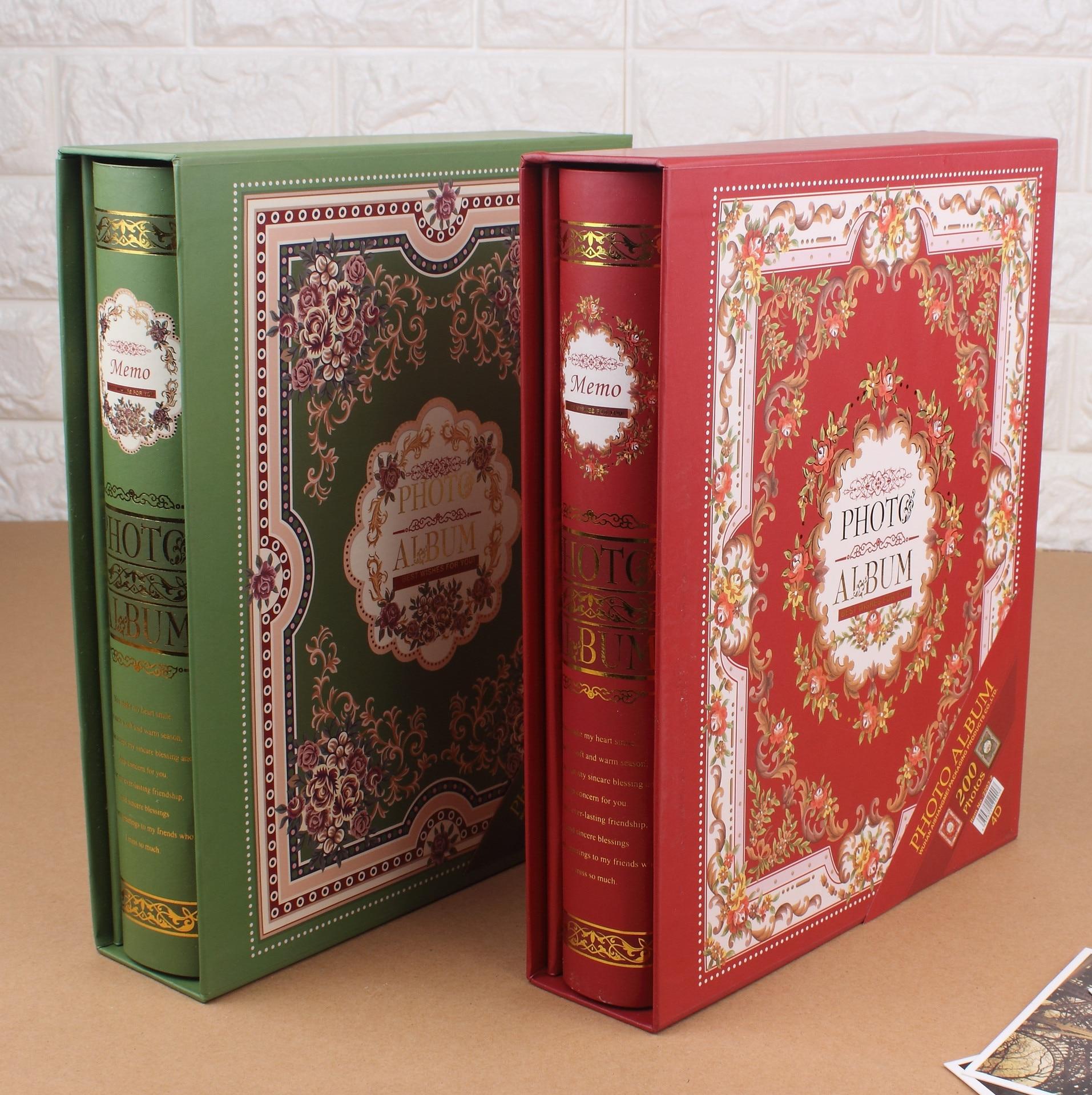 4D grande 6 pulgadas 200 páginas barato Foto Album Scrapbook papel bebé familia Scrapbook álbumes de boda Foto álbum Scrapbooking