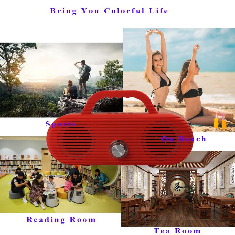 Image 5 - CM86 Portable Bluetooth Speaker Outdoor wireless column Waterproof Computer Speaker Soundbox With TF Card And USB FM radio-in Portable Speakers from Consumer Electronics
