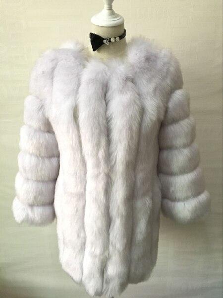 ZADORIN S-4XL Winter Luxury Faux Fox Fur Coat Slim Long Pink Red Blue Faux Fur Jacket Women Fake Fur Coats manteau fourrure 4