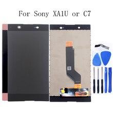 עבור Sony Xperia XA1 Ultra LCD C7 LCD digitizer רכיבים עבור Sony Xperia XA1 Ultra G3221 G3223 G3212 G3226 תצוגה + כלים