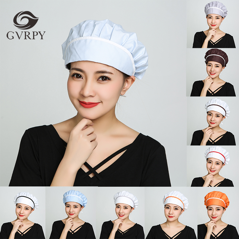 11 Color Cotton Breathable Adjustable Chef Hat Family Kitchen Meal Eating Hall Anti-smoke Hat Food Hygiene Helmet Unisex