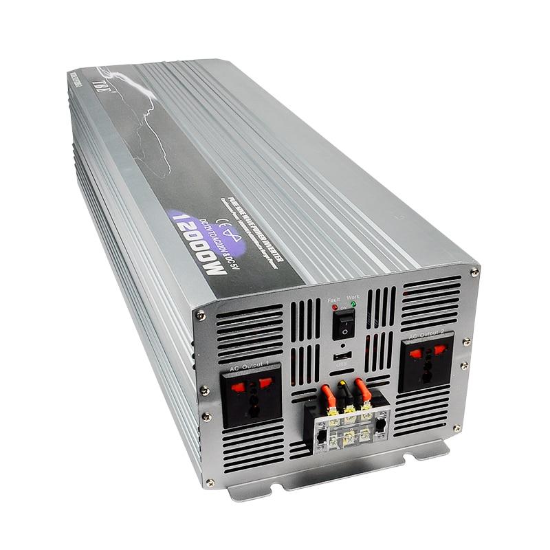 Profession Fabricant De Voiture Power Inverter 12000 w Onde sinusoïdale Pure DC 12 v À AC 220 v Hors Gird solaire/Éolienne Onduleur