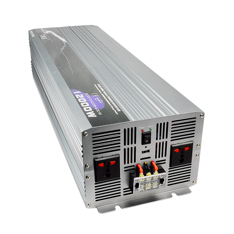 Profession Manufacturer Car Power Inverter 12000W Pure Sine Wave DC 12V To AC 220V Off-Gird Solar/Wind Power Inverter